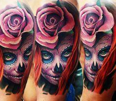 Muerte tattoo by A.d. Pancho