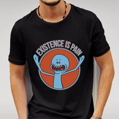 2 PACK RICK AND MORTY MR MEESEEKS ' EXISTENCE IS PAIN - PLUS SIZE S-5XL T-SHIRTS #FruitoftheLoom #Casual