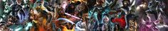 General 5760x1080 Marvel Comics X-Men collage superhero artwork