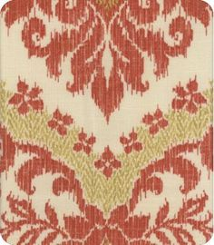 Bedazzle  Red Ikat Fabric for kitchen table makeover?