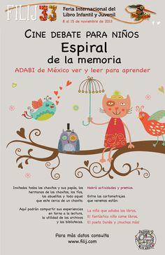 """ADABI invita al Cine debate para niños """"Espiral de la memoria"""""""