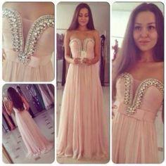 dress light pink pink diamonds pearls prom prom dress long. prom dress long classy classic girly cute beautiful tumblr weheartit bridesmaid ...