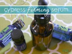 Firming and Anti-Aging Skin Serum - www.primallyinspired.com (uses sweet almond oil, cypress, geranium & frankincense EO's)