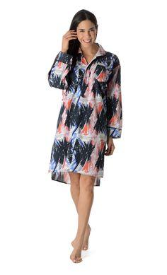 Raymond Pettibon for SMMoA+BedHead Pajamas Long Sleeve Nightshirt 1138-C-PTIBN