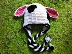 Cow crochet hat Vivi fez arte