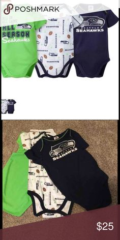 a51b0fa2e New Seattle Seahawks onesies reg 25 New Seattle Seahawks 3 each onesies.  Size 18 months. Nfl Team ApparelSeattle ...