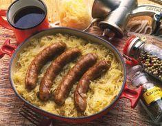 German Sausage and Sauerkraut - DAJ/Getty Images
