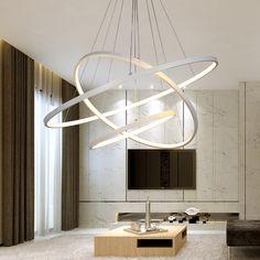 40CM 60CM 80CM Modern Pendant Lights For Living Room Dining Room