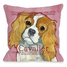 Cavalier Throw Pillow (26 x 26 Pillow), Multi, Size Specialty (Polyester, Animal)