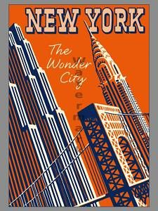 Add retro wall decor with a New York City Travel Poster for home or business. All Retro New York City Posters are tabbed on the back and ready to hang. City Poster, New York Poster, Deco New York, New York Vintage, Vintage Ads, Party Vintage, New York City Travel, Vintage Travel Posters, Up Girl