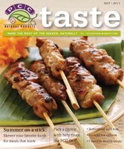 July 2011: our summertime food-on-a-stick issue!