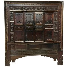 Monumental Northern Chinese Antique Cabinet 1