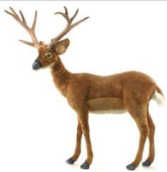 "HANSA White Tail Deer, Ride On Deer, Up To 150lb.Handmade Inside&Out, 39""X35""x9"" #Hansa"