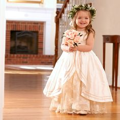 This adorable little peplum flower girl dress is almost completely serger made! Such a fun, rewarding, and beautiful project!