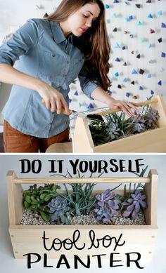 Tool Box Planter DIY