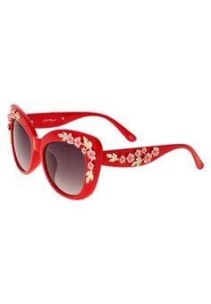 Jeepers Peepers Okulary przeciwsłoneczne red print