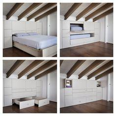 Polivalent furniture. Designed by 5LAB.  #smallspace #design #5lab