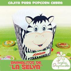 Cajita Popcorn Cebra