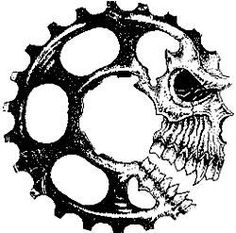 """Just one car type: """"System Of A Downhill"""" team logo of a mountain bike team from . - Just one car type: """"System Of A Downhill"""" team logo of a mountain bike team from L … – Bike art - Tatoo Motocross, Cycling Tattoo, Bicycle Tattoo, Bike Tattoos, Motorcycle Tattoos, Bicycle Art, Cycling Art, Skull Tattoos, Sleeve Tattoos"""