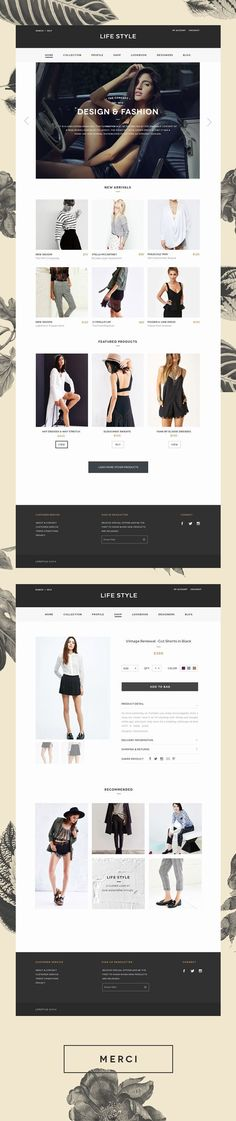 Life Style Website #fashion #clothing #design #website #web #webdesign #productpage