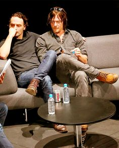 Andrew Lincoln and Norman Reedus in Singapore - they look so cozy