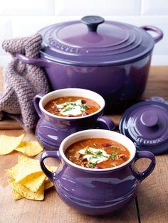 Le Creuset Cassis - Set 2 ciotole per minestra, piccole, 0,5 l, in gres
