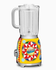 Shop the retro Dolce & Gabbana Sicily is my Love Blender by SMEG, a designer blender with colorful decorative motifs of traditional Sicilian art. Dolce & Gabbana, Smeg Toaster, Retro Toaster, Small Appliances, Kitchen Appliances, Kitchens, Smeg Kitchen, Kitchen Decor, Whimsical Kitchen