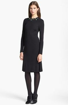 Tory Burch 'Deena' Embellished A-Line Dress available at #Nordstrom