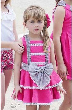 Vestido de niña Miranda sin mangas color fucsia