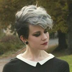 Gray Pixie Hair