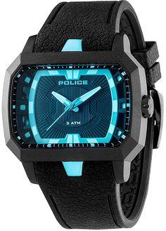 6e5b650a908 Police PL-13838JPB-02 Men s Hydro Blue Accent Black Dial Black IP Aluminum  Watch
