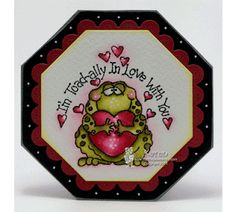 "High Hopes Stamps: Toadally by Karen using ""Toad-ally In Love"" (M127)"