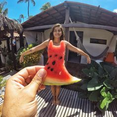 .  Watermelon Dress.  Photo By @kimveiga.tur.