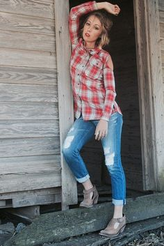 Red Finley Plaid Long Sleeve