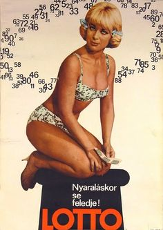 Lotto Retro Posters, Vintage Posters, Vintage Ads, Vintage Photos, Best Ads, Illustrations And Posters, Hungary, Erotica, Budapest