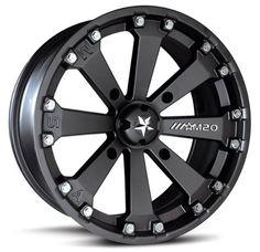 "Bundle - 9 Items: MSA Black Kore 14"" ATV Wheels 28"" EFX Moto MTC Tires [4x156 Bolt Pattern 12mmx15 Lug Kit]"