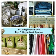 My Top {5} Spaces That Have Stayed Organized