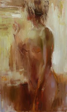 "Saatchi Online Artist: Nelina Trubach-Moshnikova; Oil, 2012, Painting ""At the window"""