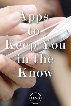 Stay in the know with these 5 must-have #apps: https://www.levo.com/articles/lifestyle/3-apps-that-are-going-to-keep-you-in-the-know