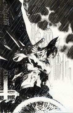Jim Lee: My penciled/inked variant cover for Detective #27. Cowl, gloves & handgun a throwback to Batman's original look.