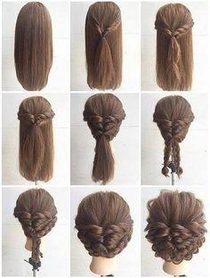 Schone Schnelle Und Einfache Geflochtene Frisuren Fur Kurze Haare Neue Haare Modelle Hochsteckfrisuren Lange Haare Frisur Hochgesteckt Dickere Haare