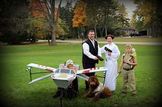 Star Wars with an x-wing for the wheelchair, great idea for Adam.
