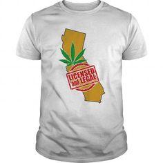 I Love CALIFORNIA  Licensed and Legal For Marijuana T-Shirts