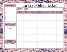 Free Printable Fitness Trackers: 3 Different Monthly Designs Free Printable Fitness Trackers. 3 different monthly designs- for cardio and strength. Track and reach your fitness goals. Fitness Tracker, Fitness Goals, Exercise Tracker, Fitness Motivation, Motivation Wall, Free Fitness, Cycling Motivation, Fitness Diet, Health Fitness