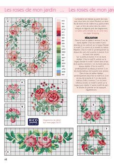 Free floral cross stitch patterns #stitching