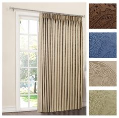 Pinch Pleated Patio Panel - Your patio will become part of your house and really an extension of it in case you pick the c Patio Door Curtains, Lined Curtains, Grommet Curtains, Blackout Curtains, Insulated Curtains, Thermal Curtains, Grey Velvet Curtains, Den Ideas, Room Darkening