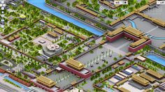 3D pixel-art maps of China on chinese search engine Baidu's mapping product.