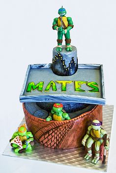 TMNT, ninja turtles cake Ninja Turtles, Tmnt, Cake, Kuchen, Torte, Cookies, Cheeseburger Paradise Pie, Tart, Pastries