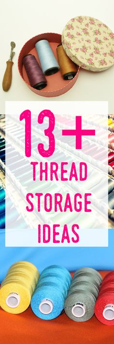 thread storage ideas | thread organization | thread spool holder | sewing room decor