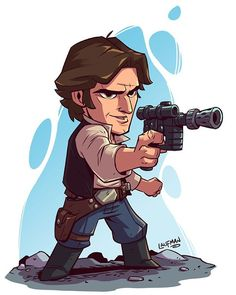 Unleashing the new Chibi StarWars set. Check them out @ dereklaufman.con (link in my profile) #hansolo #StarWars #chibi